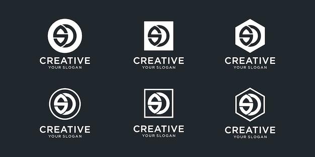 Diseño de logotipo inspirador de letra sd