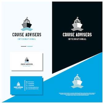 Diseño de logotipo internacional de cruise adviser