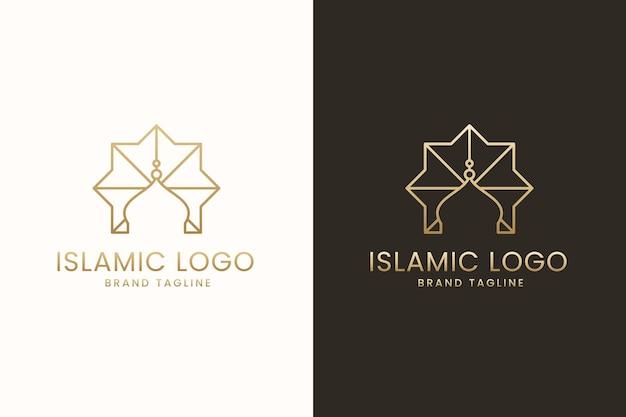 Diseño de logotipo islámico en dos colores.