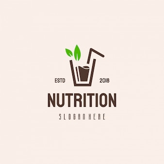 Diseño de logotipo de jugo fresco, logotipo de nutrición
