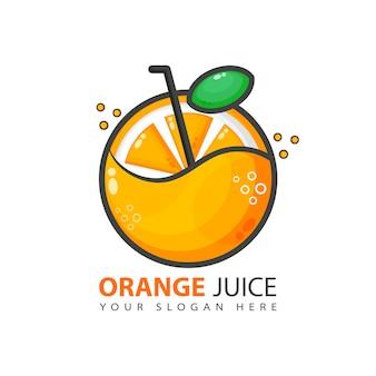 Diseño de logotipo de jugo de naranja