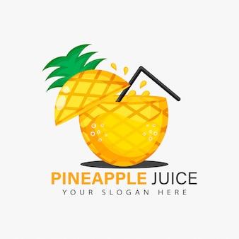 Diseño de logotipo de jugo de piña