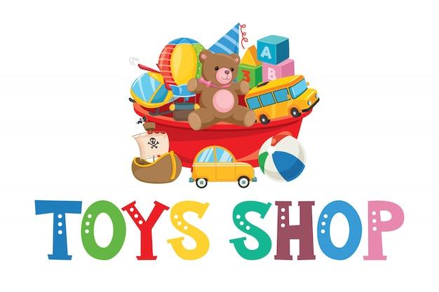 Diseño de logotipo para juguetes para niños