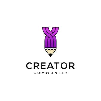Diseño de logotipo de lápiz moderno