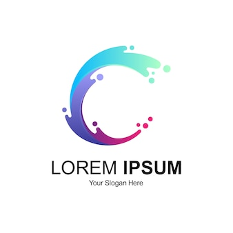 Diseño de logotipo letra c
