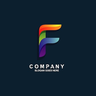 Diseño de logotipo letra f