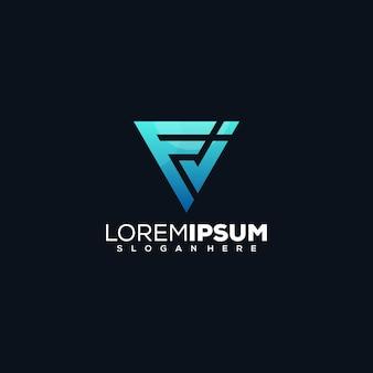 Diseño de logotipo letra fj