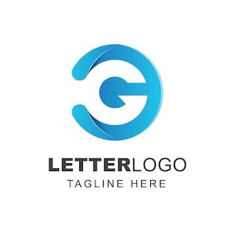 Diseño de logotipo letra g con forma de círculo
