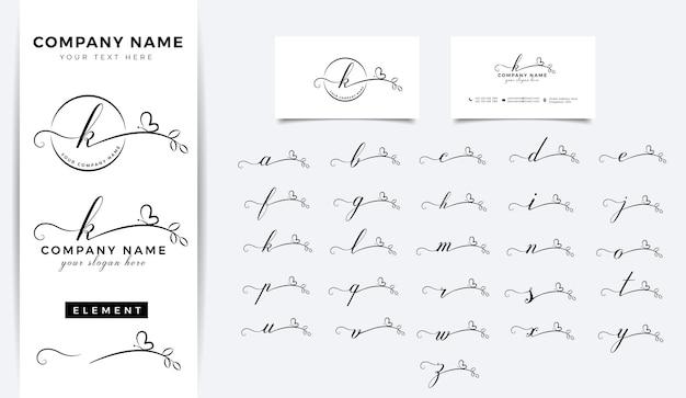 Diseño de logotipo de letra inicial de belleza floral