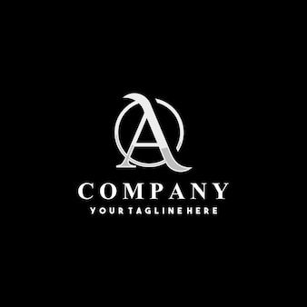 Diseño de logotipo letra inicial creativa a