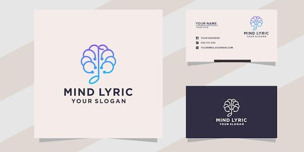 Diseño de logotipo de letra de mente