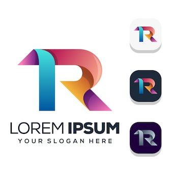 Diseño de logotipo letra r