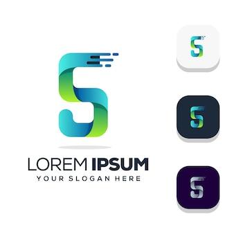 Diseño de logotipo letra s