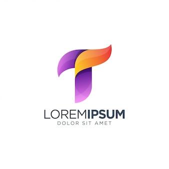 Diseño de logotipo letra t