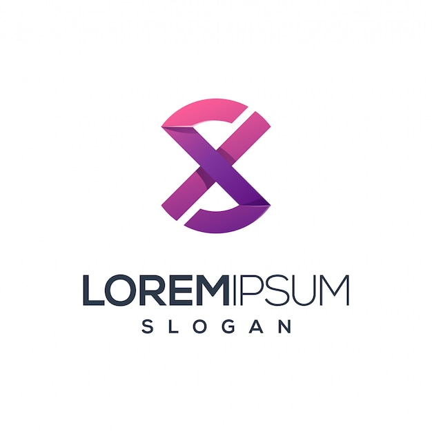 Diseño de logotipo letra x, vector, ilustración listo para usar para su empresa