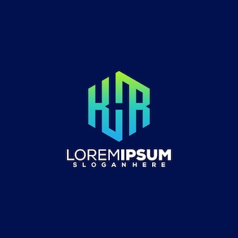 Diseño de logotipo letter khr