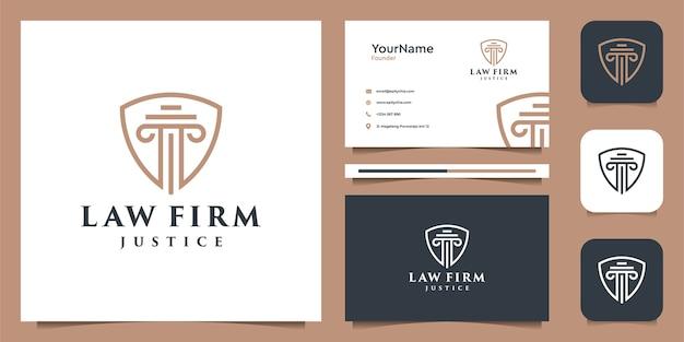 Diseño de logotipo de ley y tarjeta de presentación.