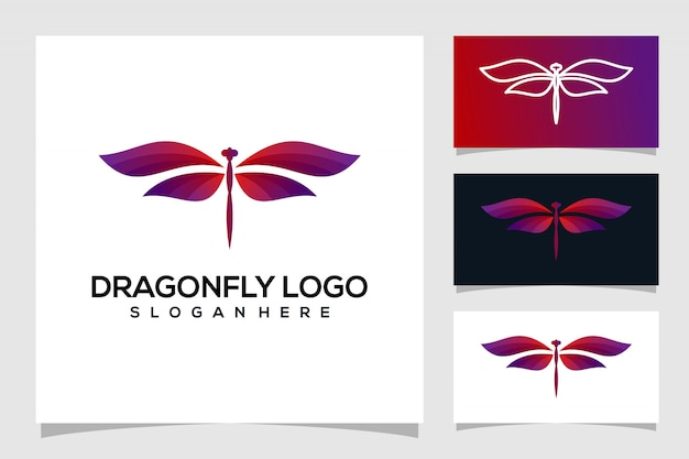 Diseño de logotipo de libélula