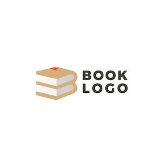 Diseño de logotipo de libro creativo