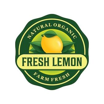 Diseño de logotipo de limón fresco