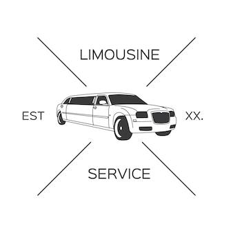 Diseño de logotipo de limusina