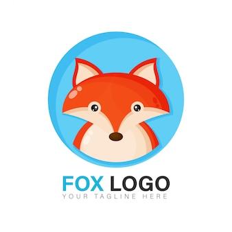 Diseño de logotipo lindo zorro