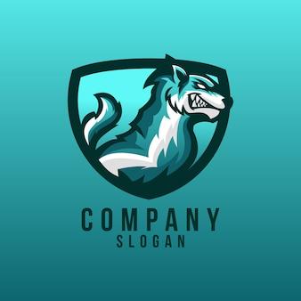 Diseño de logotipo de lobo