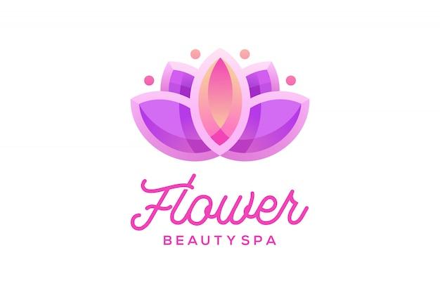 Diseño de logotipo de lotus flower beauty spa