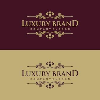 Diseño de logotipo de lujo dorado ilustración vectorial