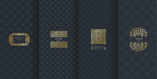 Diseño de logotipo de lujo para embalaje