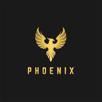 Diseño de logotipo de lujo phoenix