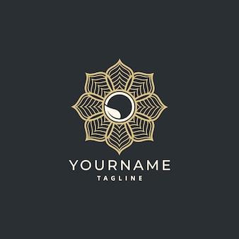 Diseño de logotipo mandala simple de lujo