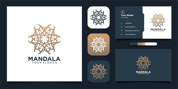 Diseño de logotipo mandala y tarjeta de visita