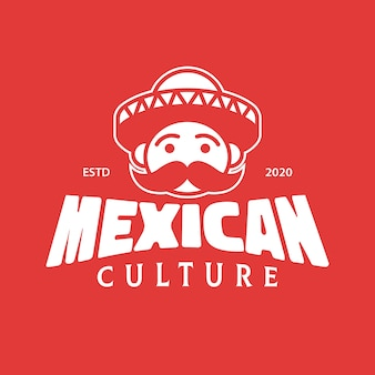 Diseño de logotipo de mariachi de cultura mexicana