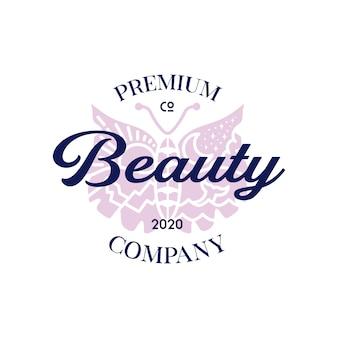 Diseño de logotipo de mariposa de belleza