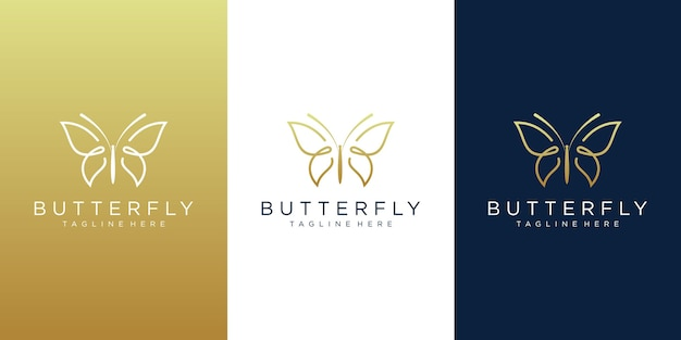 Diseño de logotipo de mariposa