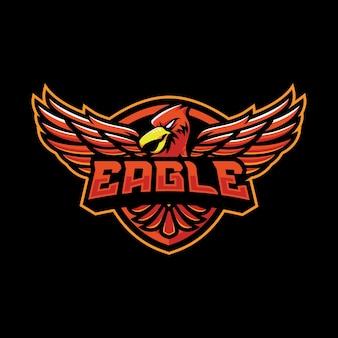 Diseño de logotipo de mascota águila
