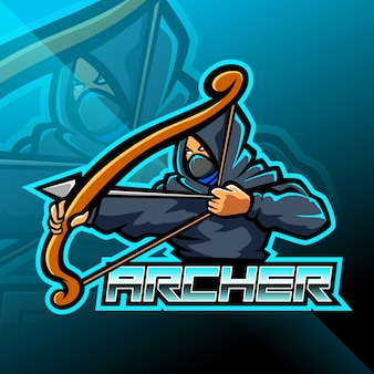 Diseño de logotipo de mascota archer esport