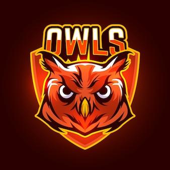 Diseño de logotipo de mascota con búho