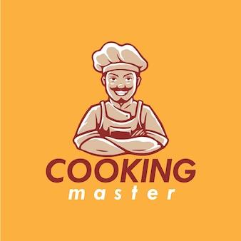 Diseño de logotipo de mascota de chef