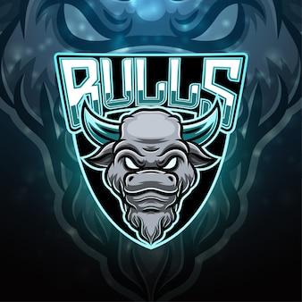 Diseño de logotipo de mascota deportiva bulls