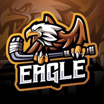 Diseño de logotipo de mascota eagle sport esport