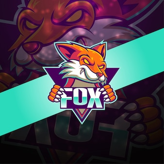 Diseño de logotipo de la mascota fox esport