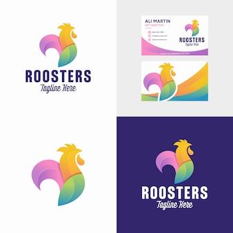 Diseño de logotipo de mascota gallo