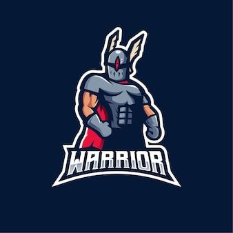 Diseño de logotipo de mascota guerrera