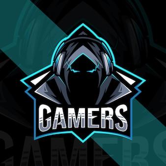 Diseño de logotipo de mascota de jugadores