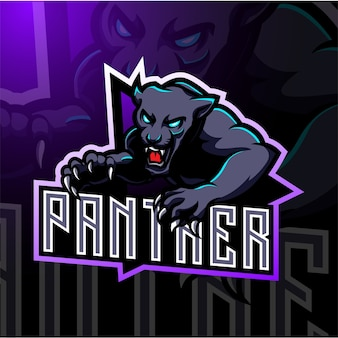 Diseño de logotipo de mascota panther esport