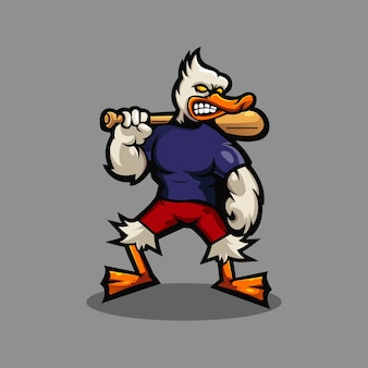Diseño de logotipo de mascota de pato
