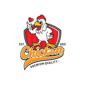 Diseño de logotipo de mascota de pollo