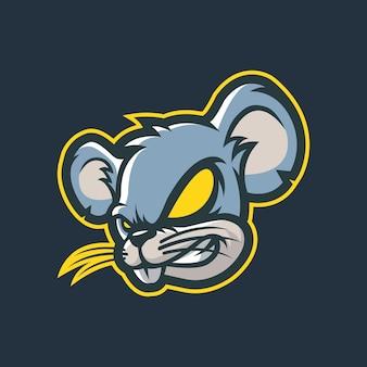 Diseño de logotipo de mascota de ratón